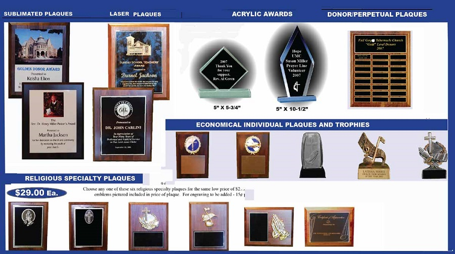 Custom engraving, plaques, trophies and awards by Creative Signs.