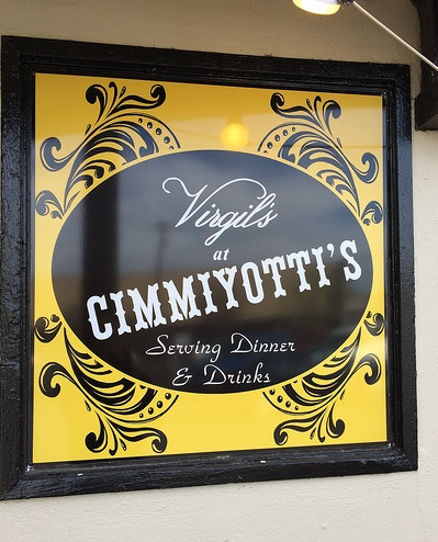Virgils at Cimmiyotti's Restaurant Sign by Creative Signs