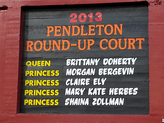 Vinyl graphics on the Pendleton Round Up Stadium